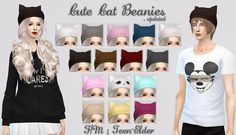 JS Boutique: Cute cat beanies • Sims 4 Downloads
