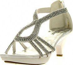 506d8e06ad4dab Delicacy Angel 36 Women Dress Sandals Rhinestone Platform Pumps Wedding  Bridal Low Heel Women s