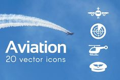 AVIATION - vector icons by marusdesign on @creativemarket