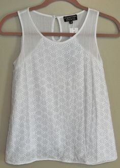 similar lace to a short sleeve blouse I pinned, but like the tank with all over lace pattern...  probably will need a cami underneath though.