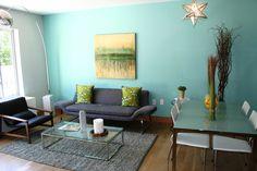 Warna Cat Dinding Ruang Tamu Yang Bagus Small Apartment Decorating Design Simple
