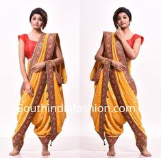 Meet Dolly Jain, Who'll Help You Drape A Saree In Several Offbeat Styles! Sari Draping Styles, Saree Styles, Dhoti Saree, Marathi Wedding, Saree Wearing, Fancy Suit, Modern Saree, Designer Party Wear Dresses, Saree Look