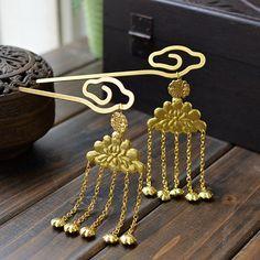 Original Handmade Gold Gilted Tang Dynasty Oriental Hairpin - iDreamMart.com