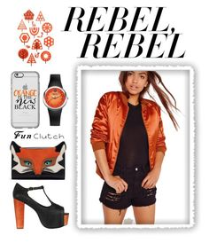 """""""Orange is the new Black"""" by riki-shaham ❤ liked on Polyvore featuring Missguided, Jeffrey Campbell, Philip Stein and Casetify"""