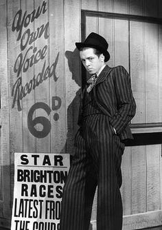 February Richard Attenborough plays Pinkie in the stage version of Graham Greene's book 'Brighton Rock'. He played the same role in the subsequent film version. (Photo by. Brighton Rock, Brighton England, Sheila Sim, Roman, Bogart And Bacall, Richard Attenborough, Female Poets, Graham Greene, Greatest Villains
