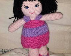 18 Handmade Crochet Amigurumi Doll by SewSisaCrafts on Etsy