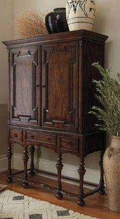 While the rich details of our exclusive Cabrillo Hutch belong to another age, its modest size and sophistication belong anywhere in your home.    Frontgate Interiors