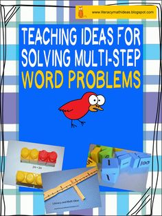 How to Solve Multi-Step Word Problems--Helpful Teaching Ideas First Grade Words, Third Grade Math, Sixth Grade, Fourth Grade, Math Resources, Math Activities, Teaching Math, Teaching Ideas, Eureka Math