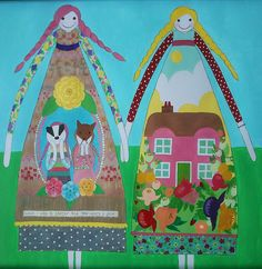 Painted Dolls by Annie Montgomerie, via Flickr