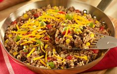UNCLE BEN'S® Easy Rice Recipes | Southwest Beefy Rice & Quinoa Skillet