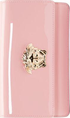 aa52a498d817 Versace Pink Patent Medusa Clutch