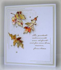 CT0914 - Golden leaves - die cut out of sookwang tape and then covered in gold leaf - see: http://www.splitcoaststampers.com/gallery/photo/2558636?&cat=25620