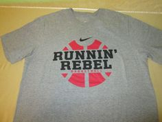 Team Issue UNLV Runnin Rebels Basketball  NCAA  T Shirt Sz L - NIKE #Nike #UNLVRebels