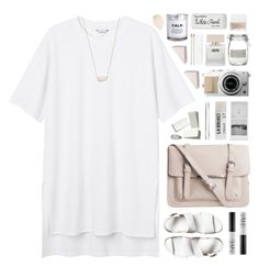 """you're not smart, you're stupid! - collab with @via-m"" by amazing-abby ❤ liked on Polyvore featuring Monki, Pieces, NARS Cosmetics, Toast, Bella Freud, Windsor Smith, H&M, Cara, J by Jasper Conran and Paper Mate"