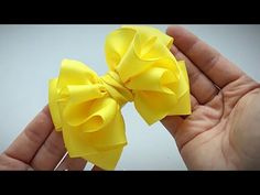 Air and the lush bow of REP ribbons Alena Khoroshilova Ribbon Hair Bows, Diy Hair Bows, Handmade Hair Bows, Diy Bow, Diy Ribbon, Bow Hair Clips, Handmade Flowers, Ribbon Flower, Butterfly Crafts