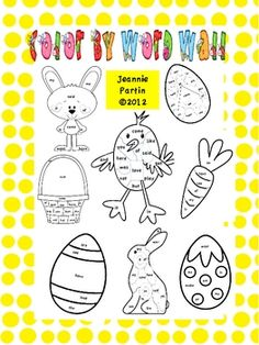 These area wonderful coloring sheets that will add tons of fun with plenty academics! In my school, even kinders can't just color - so I made these...