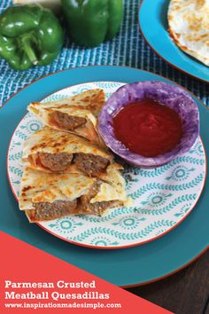 Parmesan Crusted Meatball Quesadillas with Carando Meatballs #ad #MyCarandoMeal