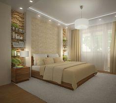 toques de color amarillo en el dormitorio moderno