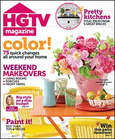 I love HGTV Magazine!  Tons of great DIY projects, great color inspiration, and all that jazz.