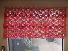 My world of crochet. Crochet curtain - so cute! Crochet Chart, Filet Crochet, Crochet Motif, Crochet Doilies, Crochet Flowers, Easy Crochet, Crochet Patterns, Crochet Stitch, Crochet Rugs
