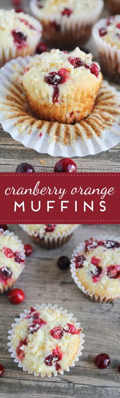 These cranberry orange muffins are the perfect combination of tart and sweet, and perfect for Christmas brunch!