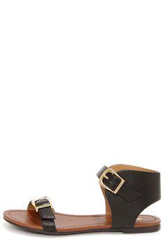 Soda Klim Black Ankle Cuff Sandals Letné Oblečenie dd99baf3465