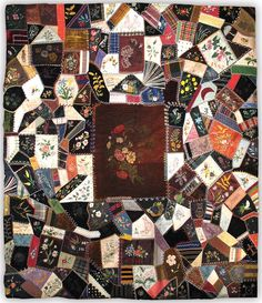 Musée Colby-Curtis Museum Blog: Courtepointes d'exception I : Pointes folles / Quilting Masterpieces I : Crazy Quilts