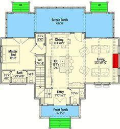 7 Modern House Plans Samples – Modern Home Lake House Plans, Cabin Plans, Small House Plans, House Floor Plans, Cottage House Plans, Cottage Homes, Roof Plan, Up House, Farmhouse Plans