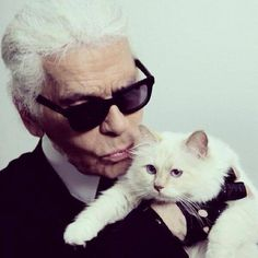 Karl Lagerfeld, fashion designer, with accessories