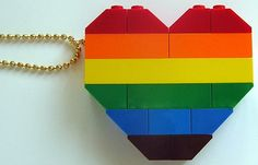 LEGO heart collectible Double thickness Model by MademoiselleAlma, ♥♥♥♥ ❤ ❥❤ ❥❤ ❥♥♥♥♥