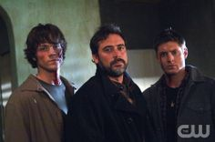 Supernatural ÒShadowÓ (Episode #115) REFERENCE NUMBER SN115-0019 Pictured (l-r): Jared Padalecki as Sam Winchester Jeffrey Dean Morgan as John Winchester, Jensen Ackles as Dean Winchester Credit: © The WB / Sergei Bachlakov