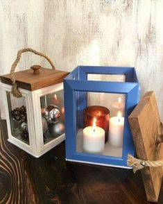 s take picture frames off your walls for these 15 brilliant ideas, Glue them into rustic lanterns