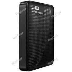 "(WESTERN DIGITAL) My Passport WDBKXH5000A 500GB 2.5"" USB 3.0 Encryption Hard Disk HDD for Laptop - Color Assorted C-229929"