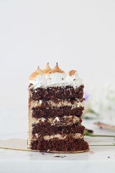 S/mores Layered Cake | Natalie Eng | Pâtisserie & Food Photography