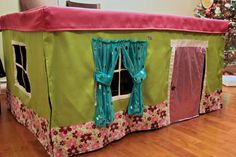 So getting this for the girls!!! Tablecloth Playhouse by PampootiePlayhouses on Etsy, $120.00