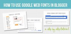 How To Use Google Web Fonts in Blogger