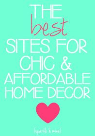 Sparkle & Mine: The Best Sites to Shop for Chic and Affordable Home Decor!