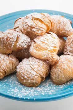 Salvatore Elefante's traditional sfogliatelle recipe has the characteristic many-layered seashell shape of the classic Neapolitan pastry, along with the rich semolina and ricotta filling. These Italian pastries are often known as 'lobster tails' in reference to their shape.