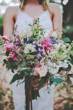 18 bohemian wedding bouquets that are totally chic 2