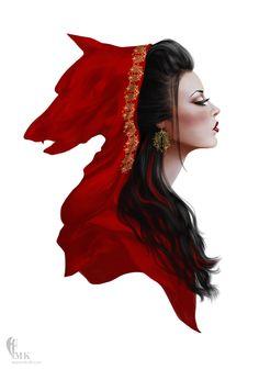 Red ridding hood by mahmoodalkhaja.deviantart.com on @deviantART