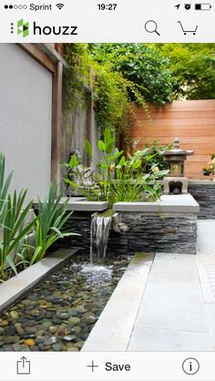 Side yard garden and landscaping