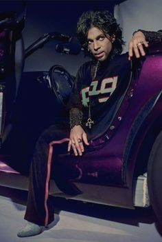 Prince and his 1999 Purple Prowler, Photograper Steve.Parke