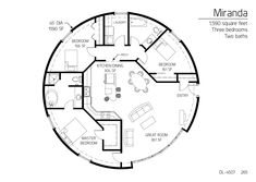 Floor Plan: DL-4507 | Monolithic Dome Institute