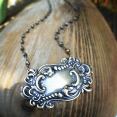 Vintage Decanter Label Necklace by sweetBella on Etsy