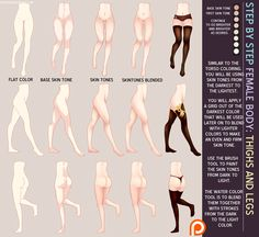 ГПС: ноги и бедра r0hi0art на deviantart