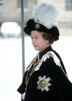 Elizabeth II at the Order of the Thistle ceremony in Scotland in Elisabeth Ii, Duke Of York, Her Majesty The Queen, Grand Duke, Prince Phillip, Queen Of England, English Royalty, Save The Queen, Prince Of Wales