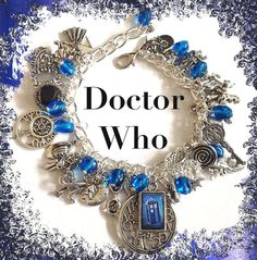 DOCTOR WHO Jewelry Charm Bracelet Dr Who Time by princessofscraps, $35.99