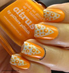 piCture pOlish 'Citrus' mani art creation by Colors Frenzy!  Buy on-line now:  www.picturepolish.com.au
