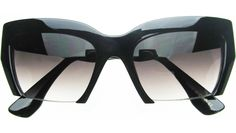 Collette Cat Eye Sunglasses in Black