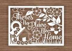There's No Place Like Home PDF SVG Instant Download Papercut Template by ArtyCuts on Etsy